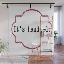 It's Handled - Television Pink Glitter Wall Mural