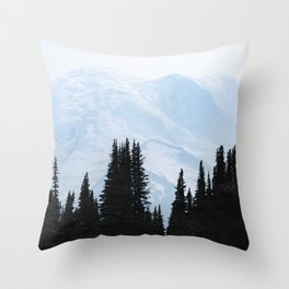 Mount Rainier Adventure - 101/365 Nature Photography Throw Pillow
