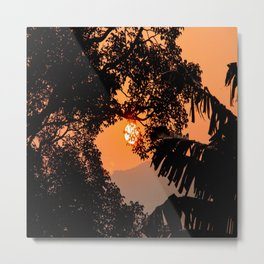 Creamsicle Moonlight Metal Print