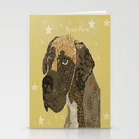 great dane Stationery Cards featuring the great dane by bri.buckley