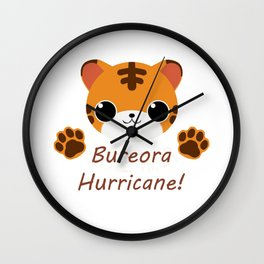 Seventeen Bureora Hurricane Wall Clock