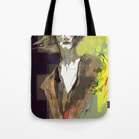 sandman Tote Bags featuring the sandman by thimblings