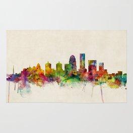 Louisville Kentucky City Skyline Rug
