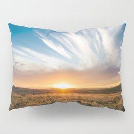 Grand Exit - Golden Sunset on the Oklahoma Prairie Pillow Sham