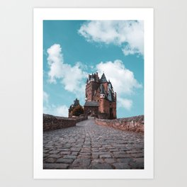 Burg Eltz Castle Germany Up in the Clouds Art Print