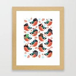 The bullfinches Framed Art Print