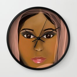 Mysterious Girl Wall Clock
