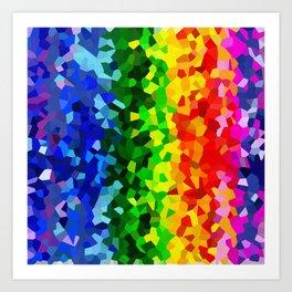 Rainbow Moon Love Art Print