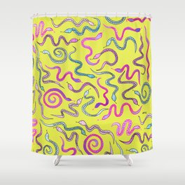 Wakey Snakey Shower Curtain