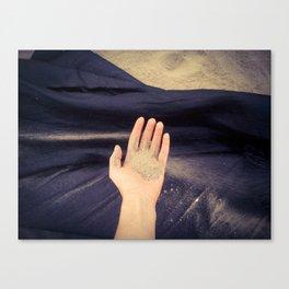 #handadventures with sand Canvas Print