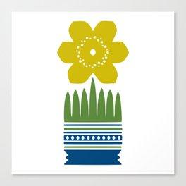 Nordic Yellow Flower Canvas Print
