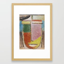 Alexej von Jawlensky 1864 - 1941 ABSTRAKTER KOPF (ABSTRACT HEAD) Framed Art Print