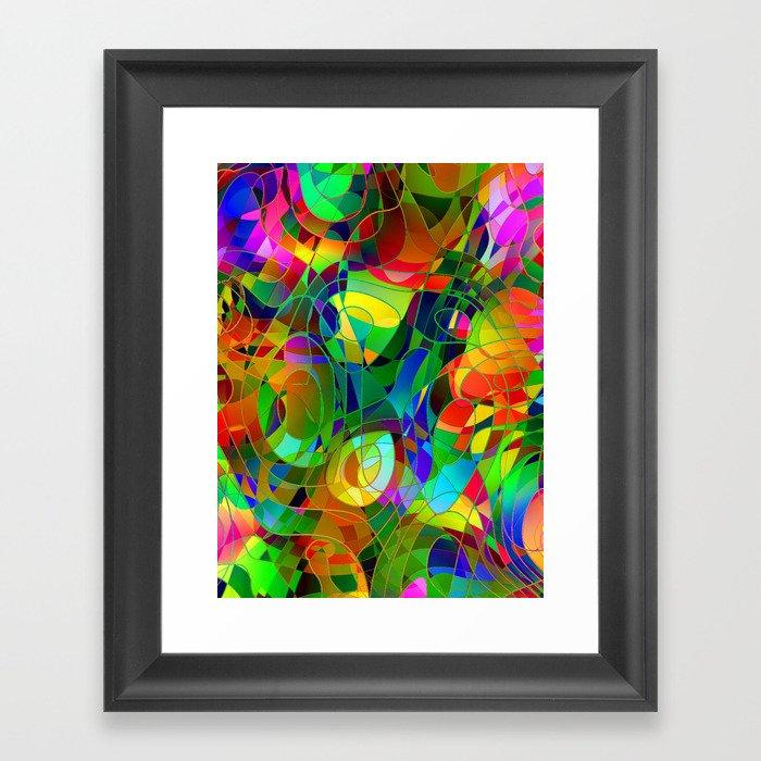 Bouquet Abstract Framed Art Print