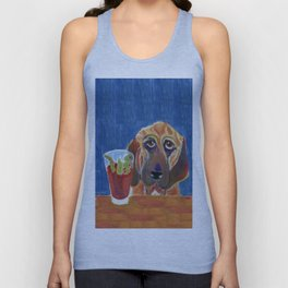 Hair of the Dog, an Animal Spirits painting  Unisex Tank Top