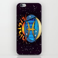 astrology iPhone & iPod Skins featuring Astrology, fish by Karl-Heinz Lüpke
