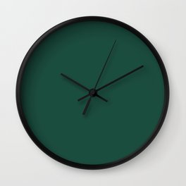 Brunswick Green - solid color Wall Clock