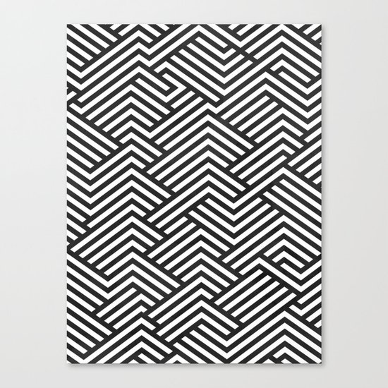 Bw Labyrinth Canvas Print