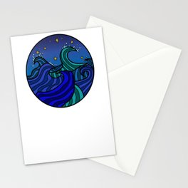 Waves In The Night Sky Stationery Cards