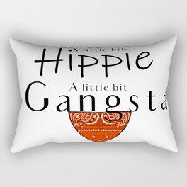 Hippie Gangsta Funny Design A Little Bit Hippie Gangsta Rectangular Pillow