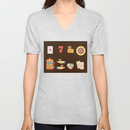 Roulette, Slots, Chips & Cards - Nevada Day Unisex V-Neck