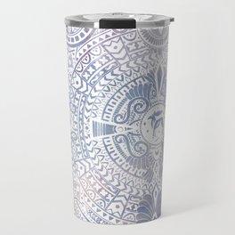 deer mandala (white) Travel Mug