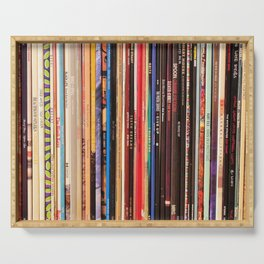 Indie Rock Vinyl Records Serving Tray
