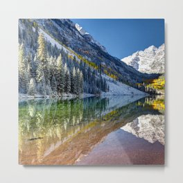 Maroon Bells Colorado Metal Print