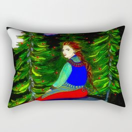 Waiting In The Moonlight Rectangular Pillow