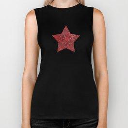 Red and black swirls doodles Biker Tank