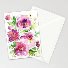 Peonies in Bloom Stationery Cards