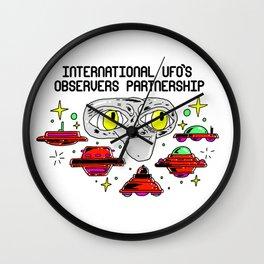 international ufo´s observers partnership Wall Clock