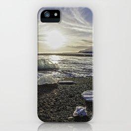 Jokulsarlon Lagoon Beach 06 iPhone Case