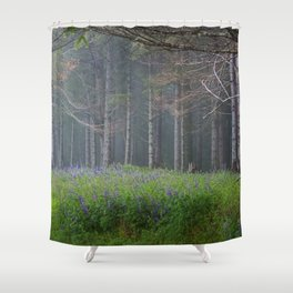 Lupines At The Forest's Edge Shower Curtain