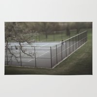 tennis Area & Throw Rugs featuring Tennis by James Lyle