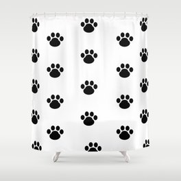 Puppy Dog Paw Prints Shower Curtain