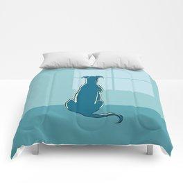 Waiting Greyhound Comforters
