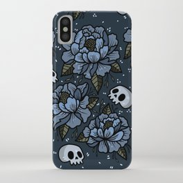 Subtle skulls ~blues iPhone Case