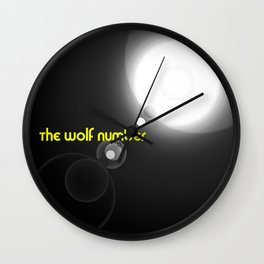 The wolf number Wall Clock