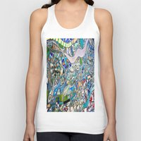 bathroom Tank Tops featuring Venice Beach Bathroom Art by Kim Ramage
