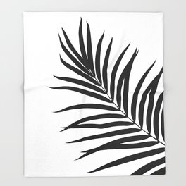 Tropical Palm Leaf #1 #botanical #decor #art #society6 Throw Blanket
