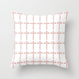 Christian Cross 54– with hearts Throw Pillow