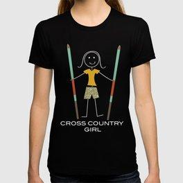 Funny Womens Cross Country Ski Girl T-shirt