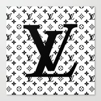 lv Canvas Prints featuring lv   pillow by HeyShay