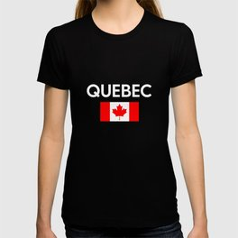 Quebec Canada Flag Proud Eastern Canadian Province T-shirt