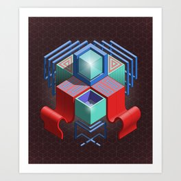 Abstract Cube 01 Art Print