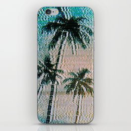 Analogue Glitch Palm Trees Sunrise iPhone Skin