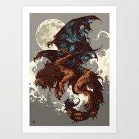 Bestiary / Manticore Art Print