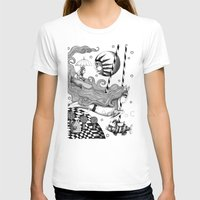 jazzberry T-shirts featuring East of Blue Lake by Judith Clay