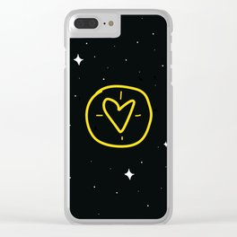Target Heart Clear iPhone Case