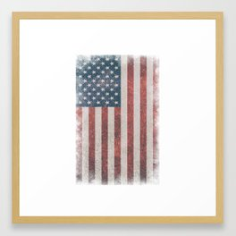 Grunge American Flag - Patriot/Independence Day Framed Art Print